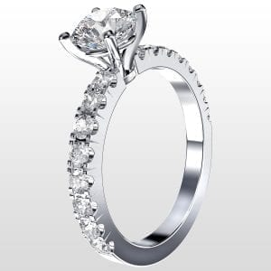 Diamantring Paris 1.39ct vitguld