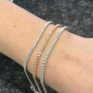 tennisarmband vitguld diamanter 16cm