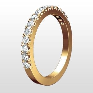 alliansring rödguld 2mm 20x0.01ct - Juvelia ad60406a8d84e