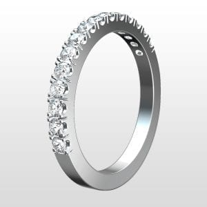 alliansring special vitguld 2,2mm 15×0.03ct