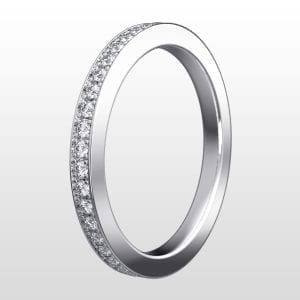 alliansring vitguld 2mm 20×0.01ct