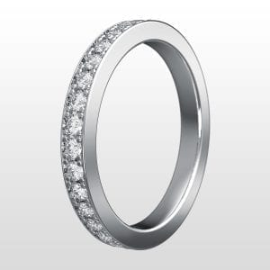 alliansring vitguld 2,5mm 15×0.02ct