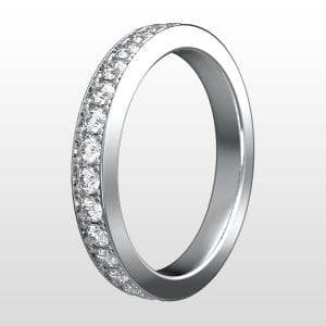 alliansring vitguld 2,8mm 15×0.03ct