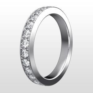 alliansring vitguld 3,0mm 13×0.05ct