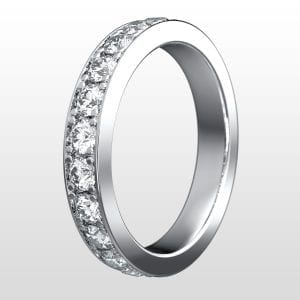 alliansring vitguld 3,4mm 11×0.07ct