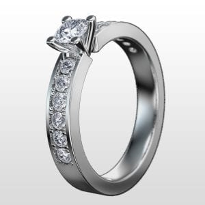 Diamantring Bristol 0.73ct vitguld