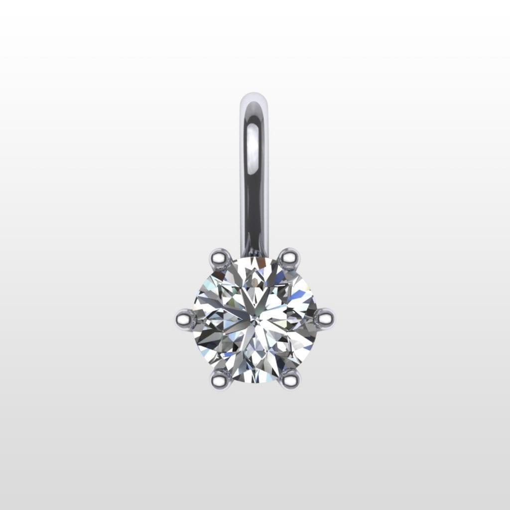 diamanthänge med briljant. välj olika material och hur stor diamant du vill ha. dimanthänge i hög kvalitet.