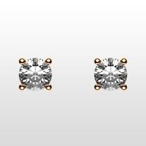 diamantörhängen 2×0,10ct rödguld 18K 4 klor
