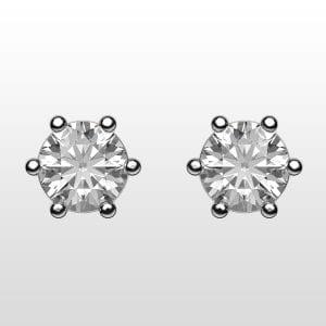 diamantörhängen 2×0,20ct vitguld 18K 6 klor