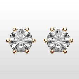 diamantörhängen 2×0,25ct rödguld 18K 6 klor