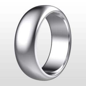förlovningsring rund 7 mm vitguld 18K