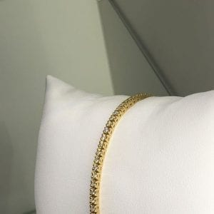 tennisarmband gult guld diamanter