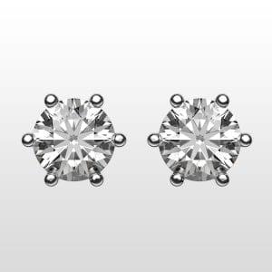 diamantörhängen 2×0,28ct vitguld 18K 6 klor