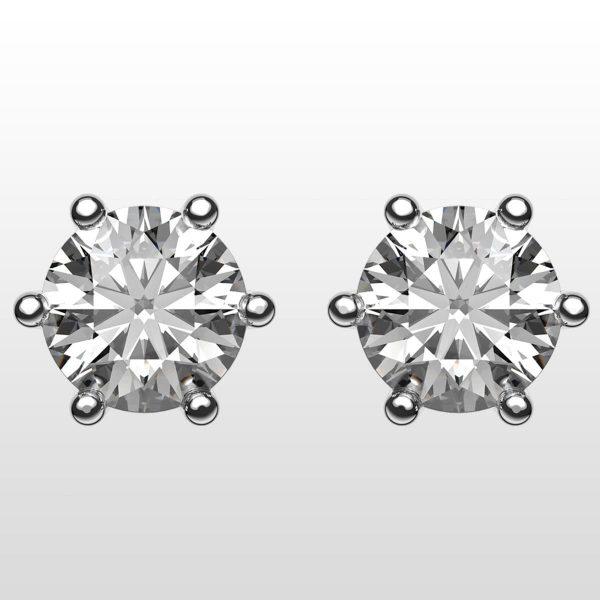 Diamantörhängen i vitguld
