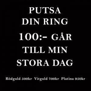 vi ger 100kr per putsad ring till min stora dag