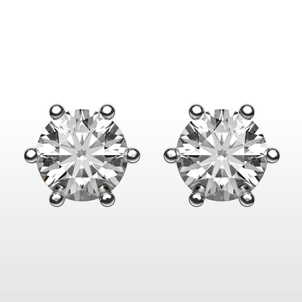 diamantörhängen i vitguld från Juvelia