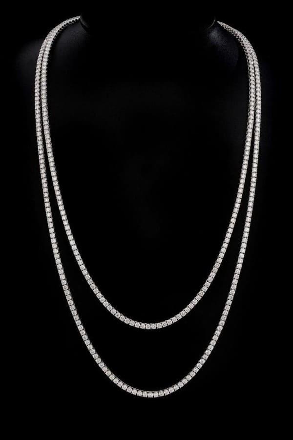 diamanthalsband i vitguld